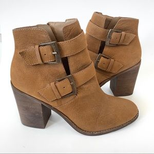 Steve Madden Trevur Leather High Heel Booties
